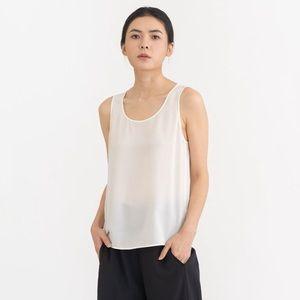 Grana White 100% Silk Tank
